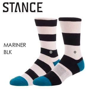 あすつく STANCE スタンス STANCE SOCKS ソックス 靴下/MARINER-BLK surfer