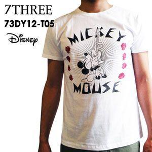 あすつく 73R セブンスリーアール Tシャツ ディズニーコラボ Disney/73DY12-T05 surfer