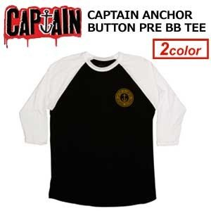 CAPTAINFIN,キャプテンフィン,ロンT,ベースボールT●CAPTAIN ANCHOR BUTTON PRE BB TEE|surfer