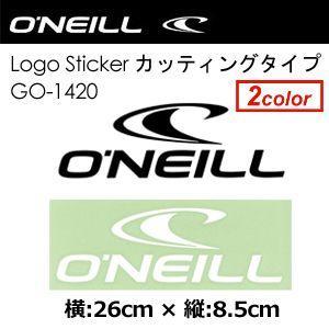 O'neill オニール ステッカー/O'neill Logo Sticker カッティングタイプ 26cm GO-1420|surfer
