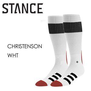 STANCE スタンス STANCE SOCKS ソックス 靴下 CHRISTENSON クリステンソン サーフボード/CHRISTENSON-WHT surfer