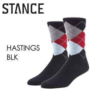 あすつく STANCE スタンス STANCE SOCKS ソックス 靴下/HASTINGS-BLK surfer