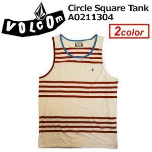 あすつく Volcom ボルコム TANK タンクトップsale/Circle Square Tank A0211304|surfer