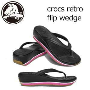 CROCS,クロックス,レディース,サンダル,シューズ●crocs retro flip wedge レトロ フリップ ウエッジ|surfer