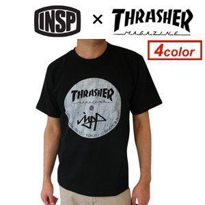 【あすつく対応】THRASHER,スラッシャー,INSP,インスピ,Tシャツ,sale●TSIN-006 INSP×THRASHER コラボTEE|surfer