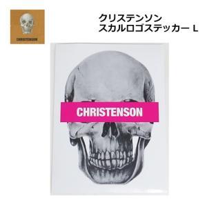 あすつく サーフィン ステッカー CHRISTENSON クリステンソン メール便対応可/クリステンソン スカルロゴ L|surfer