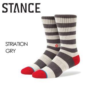 あすつく STANCE スタンス STANCE SOCKS ソックス 靴下/STRIATION-GRY surfer