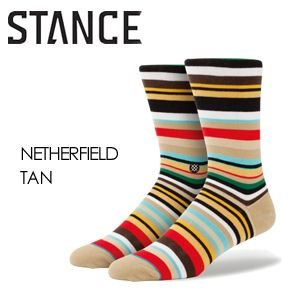STANCE,スタンス,STANCE,SOCKS,ソックス,靴下●NETHERFIELD-TAN|surfer