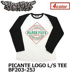 【あすつく対応】BLACKFLYS,ブラックフライズ,Tシャツ,ロンT,長袖,13fa●PICANTE LOGO L/S TEE BF203-25J|surfer