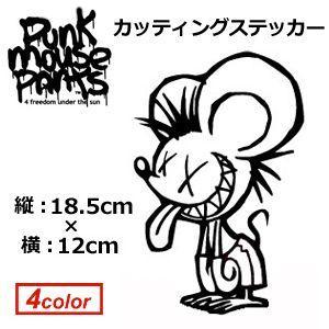 ステッカー PUNK MOUSE パンクマウス/カッティングステッカー 大 185×120mm|surfer