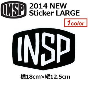 INSP インスピ ステッカー/2014 NEW Sticker LARGE W85mm|surfer
