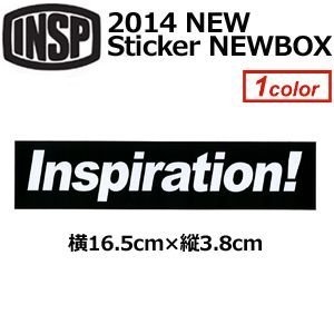 INSP,インスピ,ステッカー●2014 NEW Sticker NEWBOXLOGO W165mm|surfer