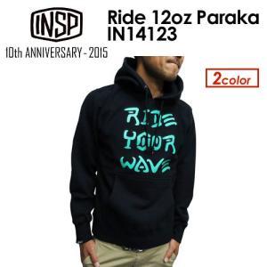 【あすつく対応】INSP,インスピ,パーカー,スウェット,14fa,sale●Ride 12oz Paraka IN14123|surfer