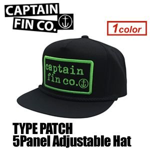 CAPTAINFIN,キャプテンフィン,キャップ,CAP●TYPE PATCH 5Panel Adjustable Hat|surfer