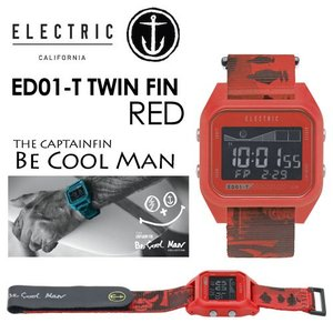 ELECTRIC CAPTAINFIN エレクトリック キャプテンフィン 時計 ウォッチ TAID タイド 5年保証/ED01-T TWIN FIN RED|surfer