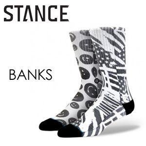 STANCE,スタンス, STANCE,SOCKS,ソックス,靴下,14ho●BANKS-BLK|surfer