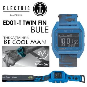 ELECTRIC CAPTAINFIN エレクトリック キャプテンフィン 時計 ウォッチ TAID タイド 5年保証/ED01-T TWIN FIN BLUE|surfer