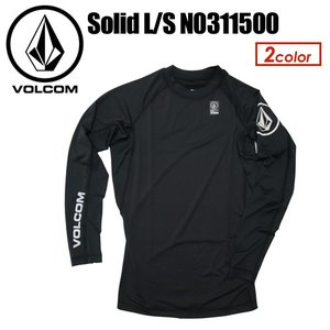 Volcom,ボルコム,メンズ,ラッシュガード,紫外線対策,長袖,15sp●Solid L/S N0311500|surfer