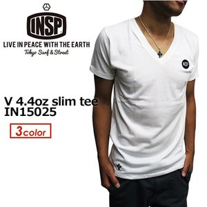 INSP,インスピ,Tシャツ,Vネック,半袖,15ss●V 4.4oz slim tee IN15025|surfer