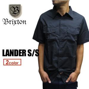 BRIXTON,ブリクストン,半袖,シャツ,スナップボタン,15sp●LANDER S/S|surfer