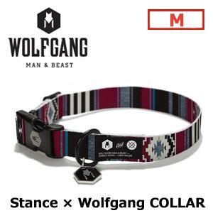 【送料無料】WOLFGANG,MAN&BEAST,ウルフギャング,犬,首輪,ハーネス,リード,USA,サーフィン,スノーボード●Stance collar サイズ(M)|surfer