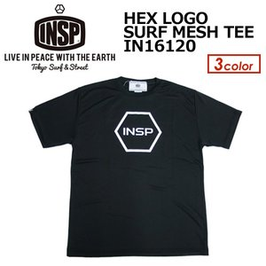 INSP,インスピ,Tシャツ,ラッシュガード,サーフT,紫外線対策,16ss●HEX LOGO SURF MESH TEE IN16120|surfer