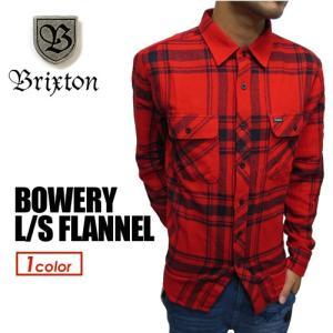 BRIXTON ブリクストン フランネル ネルシャツ シャツ 16fa●BOWERY L/S FLANNEL|surfer