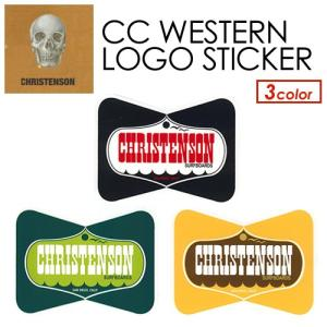 【あすつく対応】CHRISTENSON,クリステンソン,サーフィン,ステッカー●CC WESTERN LOGO STICKER|surfer