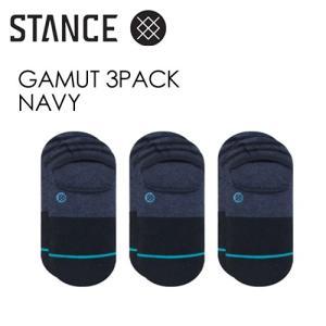 STANCE,スタンス,SOCKS,スニーカーソックス,ソックス,靴下,3足パック●GAMUT 3PACK-NAVY|surfer
