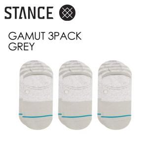 STANCE,スタンス,SOCKS,スニーカーソックス,ソックス,靴下,3足パック●GAMUT 3PACK-GREY|surfer