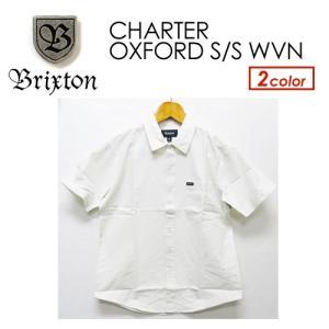 BRIXTON,ブリクストン,オックスフォード,シャツ,半袖●CHARTER OXFORD S/S WVN|surfer