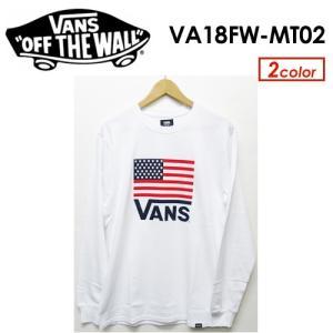 【あすつく対応】VANS,バンズ,Tシャツ,ロンT,長袖●American Flag L/S T-Shirt VA18FW-MT02|surfer