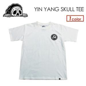 あすつく SKETCHY TANK スケッチータンク アパレル 半袖 Tシャツ 19ss/YIN YANG SKULL TEE|surfer