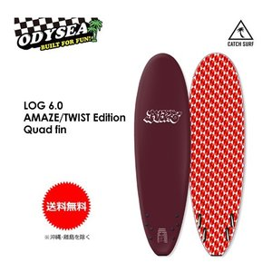 【送料無料】CATCHSURF,キャッチサーフ,ODYSEA,ファン,ソフトボード,Barry McGee●LOG AMAZE/TWIST Edition 6.0 Quad fin|surfer