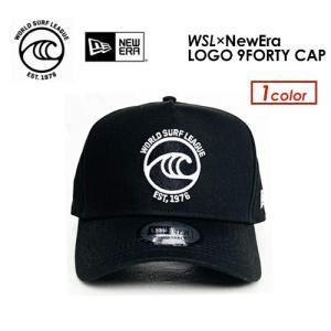 送料無料 World Surf League ワールドサーフリーグ NEW ERA ニューエラ コラボ●WSL×NewEra LOGO 9FORTY CAP BLACK 161554|surfer