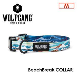 送料無料 WOLFGANG MAN&BEAST ウルフギャング 犬 首輪 原産国 USA/BeachBreak COLLAR サイズ(M) surfer