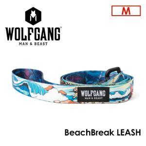 送料無料 WOLFGANG MAN&BEAST ウルフギャング 犬 リード 原産国 USA/BeachBreak LEASH サイズ(M) surfer