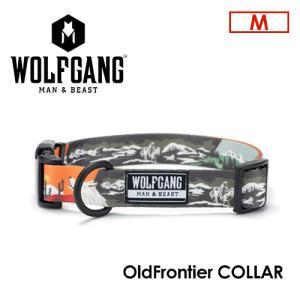 送料無料 WOLFGANG MAN&BEAST ウルフギャング 犬 首輪 原産国 USA/OldFrontier COLLAR サイズ(M) surfer
