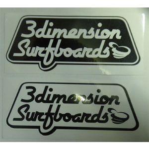 3Dimension,スリーディメンション,ステッカー●OLD Sticker 180×70mm|surfer