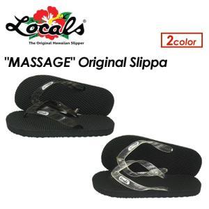 【あすつく対応】Locals,ローカルス,ハワイ,ビーチサンダル,ユニセックス,正規品●Original Translucent Strap Massage Slippa|surfer