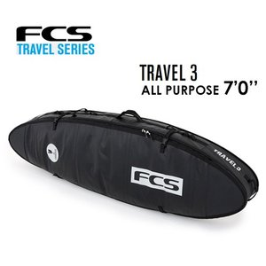 【送料無料】FCS,エフシーエス,サーフボード,トリプルケース,ハードケース,トラベルシリーズ,旅行●TRAVEL 3 ALL PURPOSE 7'0'' surfer