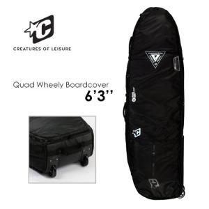 【送料無料】CREATURES,クリエイチャー,ボードケース,ハードケース,トリップ,19ss●QUAD WHEELY BOARDCOVER 6'3''|surfer