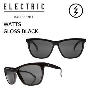 【送料無料】正規代理店,ELECTRIC,エレクトリック,サングラス,アイウェアー●WATTS GLOSS BLACK-M GREY|surfer