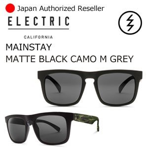送料無料 正規代理店 ELECTRIC エレクトリック サングラス アイウェアー/MAINSTAY MATTE BLACK CAMO-M GREY|surfer