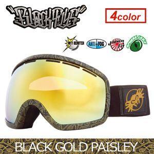 【あすつく対応】【送料無料】BLACKFLYS,ブラックフライ,GOGGLE,ゴーグル,スノーボード●XXX SNOWGOGGLE BLACK GOLD PAISLEY surfer