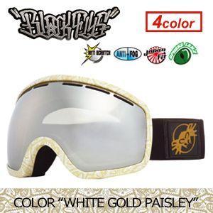 【送料無料】BLACKFLYS,ブラックフライ,GOGGLE,ゴーグル,スノーボード●XXX SNOWGOGGLE WHITE GOLD PAISLEY surfer