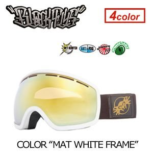 【送料無料】BLACKFLYS,ブラックフライ,GOGGLE,ゴーグル,スノーボード●XXX SNOWGOGGLE MAT WHITE surfer