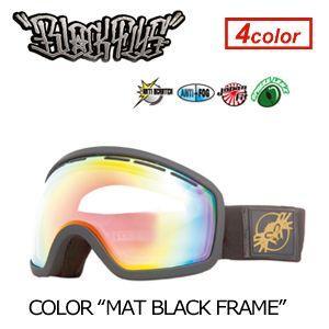 【送料無料】BLACKFLYS,ブラックフライ,GOGGLE,ゴーグル,スノーボード●XXX SNOWGOGGLE MAT BLACK surfer