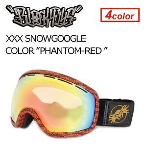 【送料無料】BLACKFLYS,ブラックフライ,GOGGLE,ゴーグル,スノーボード●XXX SNOWGOGGLE PHANTOM×RED surfer