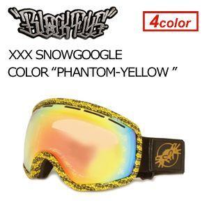 【送料無料】BLACKFLYS,ブラックフライ,GOGGLE,ゴーグル,スノーボード●XXX SNOWGOGGLE PHANTOM×YELLOW surfer